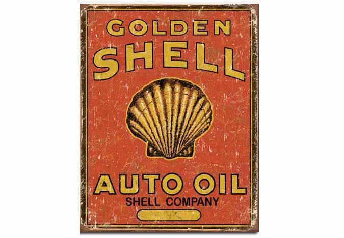 Affiche retro Shell Oil reproduction aspect antique
