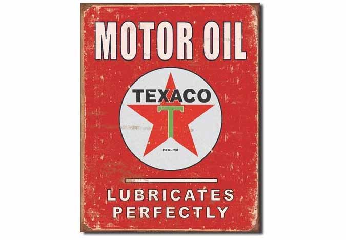 Texaco Lube vintage reproduction tin sign