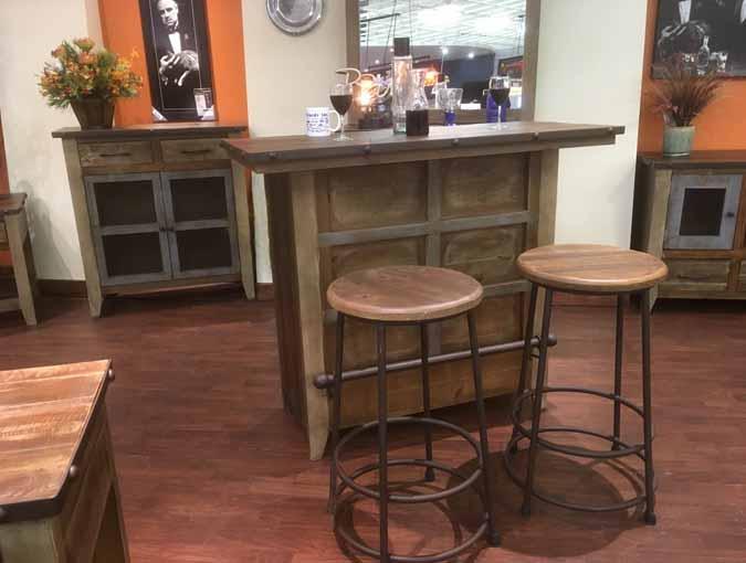 Repurposed looking wood bar