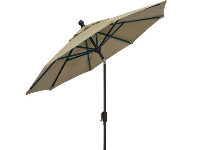 Sand beige 7½ foot balcony umbrella by Treasure Garden