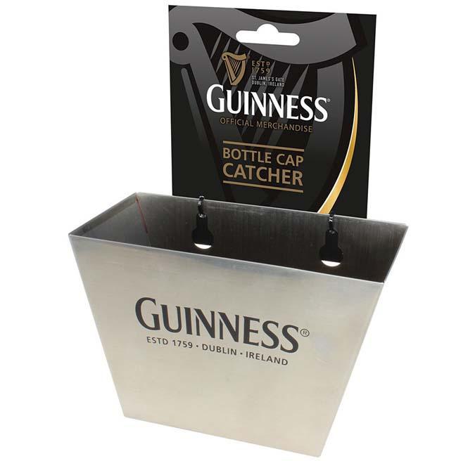 Guinness wall mounted bottle cap catcher