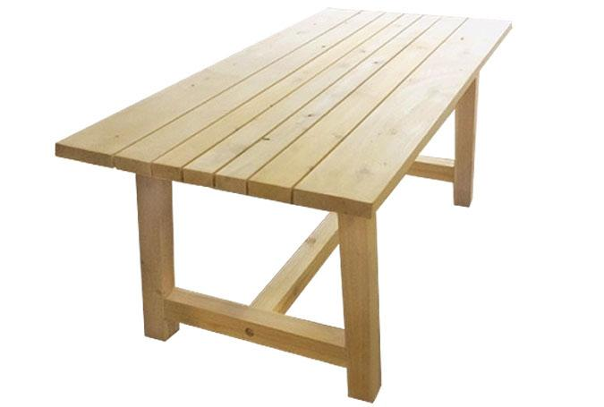 Canadian white cedar wood outdoor dining table