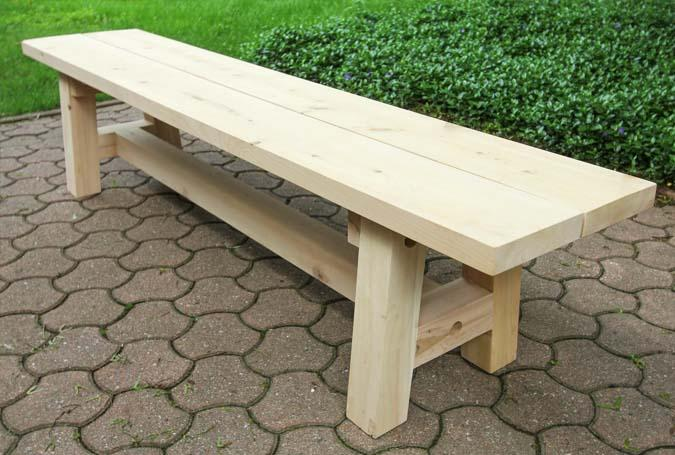 Outdoor bench made of White Cedar