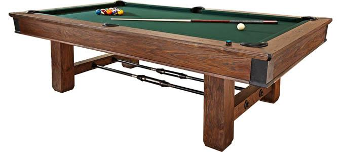 Brunswick Canton rustic industrial style pool table