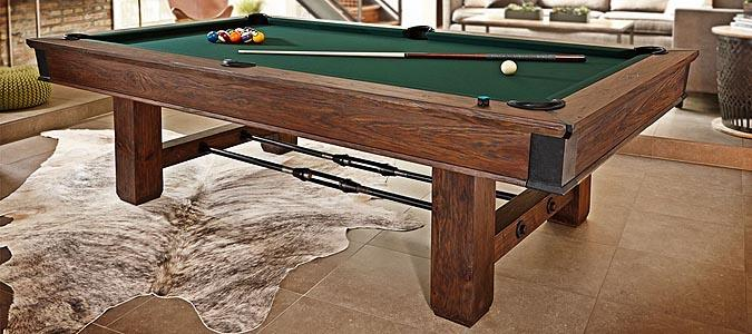 Table de billard brunswick canton de style industriel rustique for Table 6 in canton
