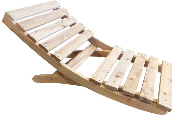 Chaise de camping portable pliable en bois
