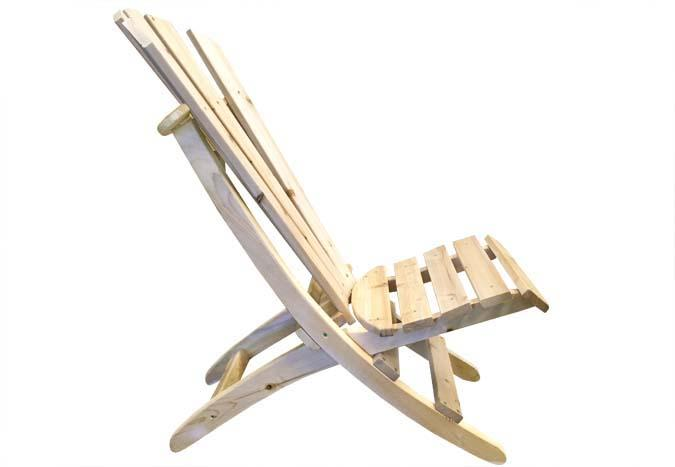 Chaise de chalet au siège bas de style Adirondack