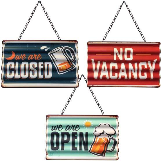 Set of 3 retro vintage looking metal signs