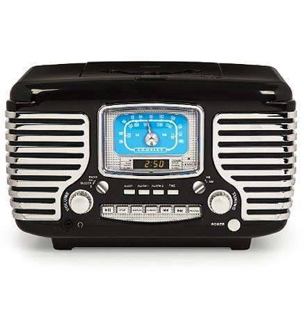 Crosley Corsair black vintage style bluetooth radio
