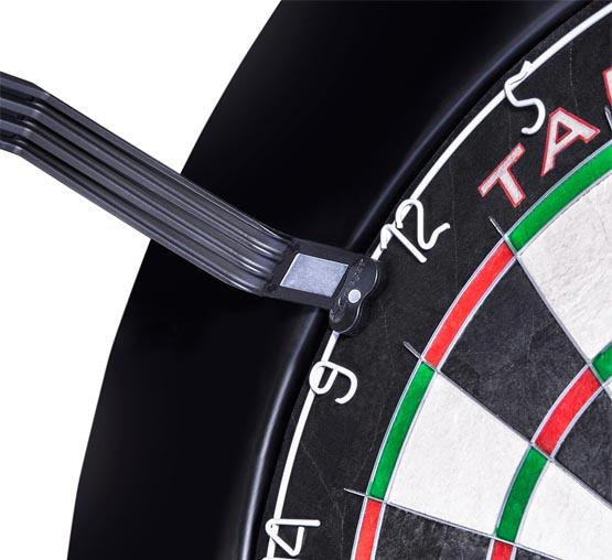 Corona LED dartboard light for even circular lighting