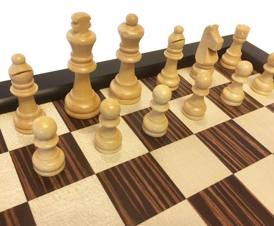 3 in 1 chess, checkers and backgammon wood game set