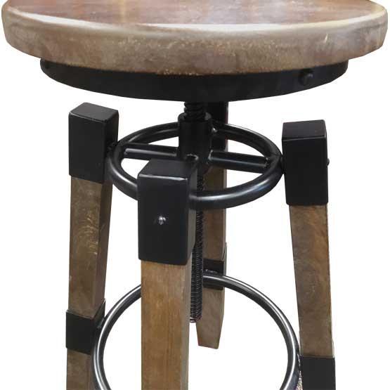 tabouret de bar ajustable en hauteur style industriel. Black Bedroom Furniture Sets. Home Design Ideas
