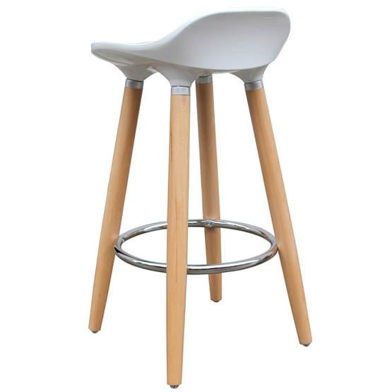 tabouret de bar moderne blanc en bois. Black Bedroom Furniture Sets. Home Design Ideas
