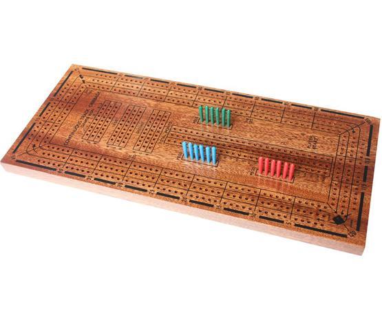 Large Crib wooden cribbage game board