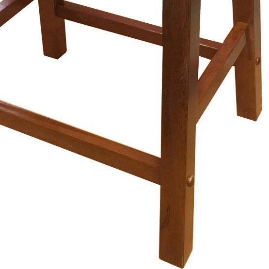tabouret de bar en bois massif 24 pouces fini noyer. Black Bedroom Furniture Sets. Home Design Ideas
