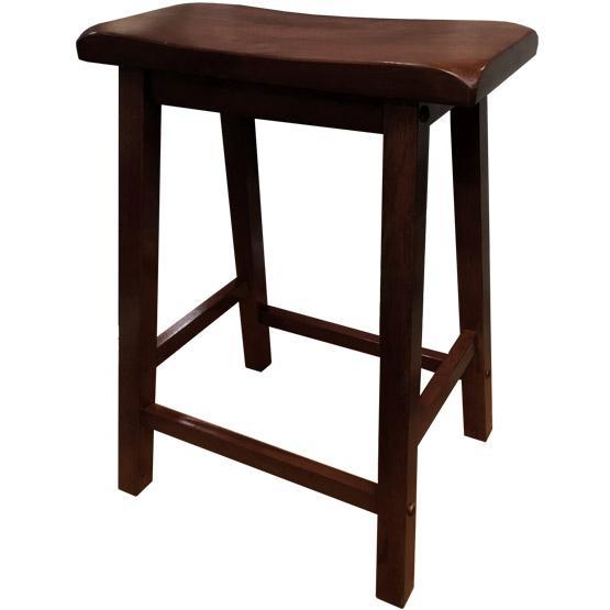 tabouret de bar en bois massif fini cappuccino. Black Bedroom Furniture Sets. Home Design Ideas
