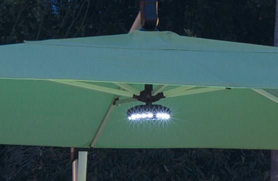 Lumière de parasol jardin DEL avec haut-parleur Bluetooth
