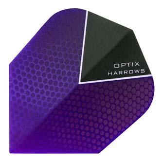 Purple Harrows Optix dart flight