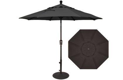7½ foot black market umbrella by Treasure Garden
