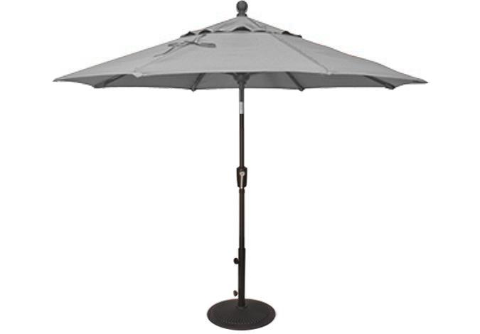 7½ foot silver grey market umbrella by Treasure Garden