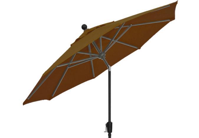 9 foot market style dark brown garden umbrella by Treasure Garden