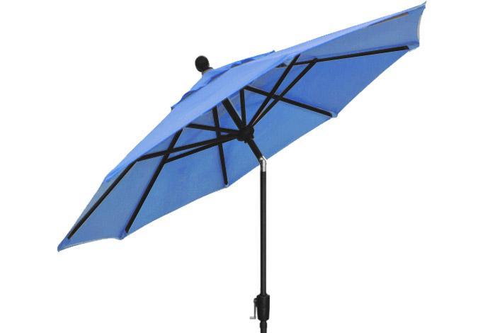 Sky blue patio umbrella by Treasure Garden