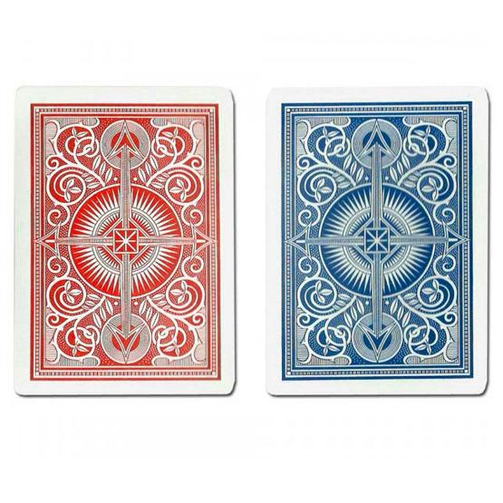Kem blue and red plastic poker playing cards