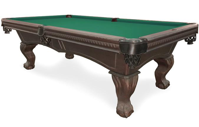 Majestic Sutton 8 foot rustic Black finish pool table