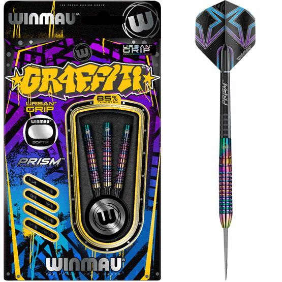 Ensemble de dards Winmau Graffiti 85% Tungsten