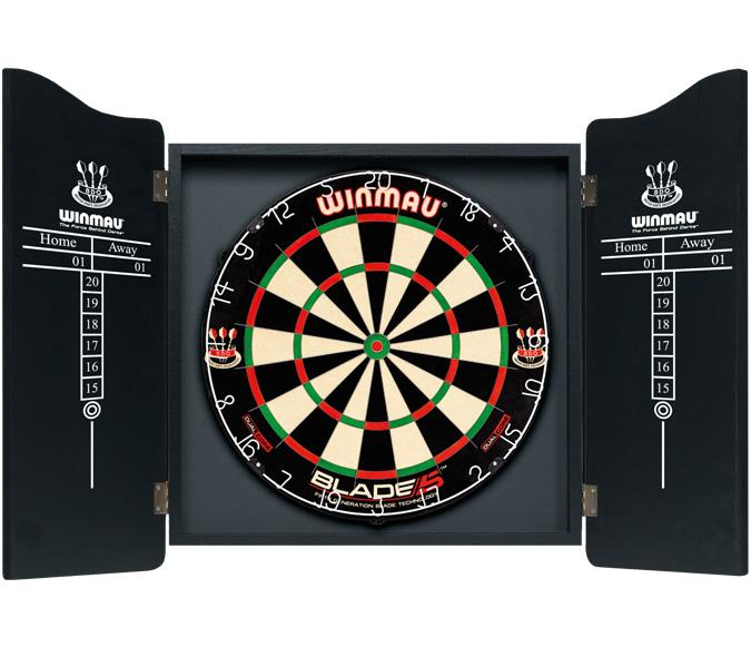 Winmau Man Cave dart cabinet with score keeper