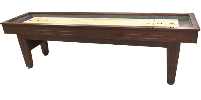 12 foot Walnut finish Majestic Shuffleboard game table