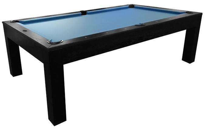 Mensa Black 8 foot pool table with real slate and 25 year warranty