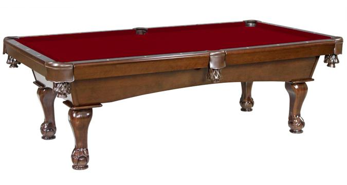 Val-d'Or pool table with ball and claw legs