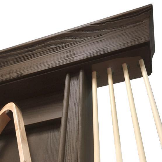 Rustic Black wall mounted pool cue rack