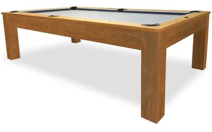 Mensa rustic walnut 8 foot real slate pool table with 25 year warranty