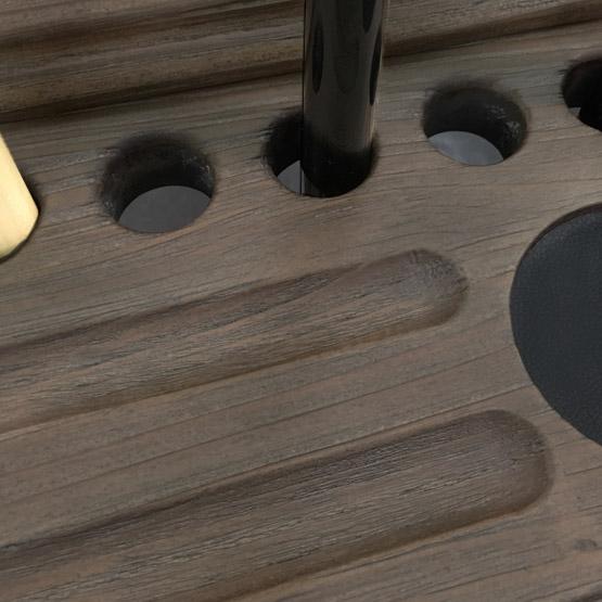 Support à baguette billard plancher Majestic noir rustique
