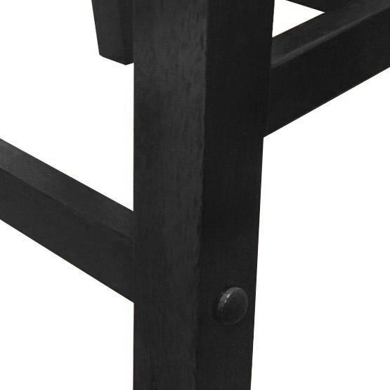 Tabouret de bar en bois massif 24 pouces au fini noir