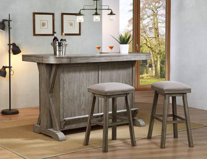 Aged grey Graystone home bar furniture unit
