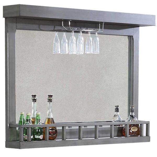 Miroir de bar Graystone au fini gris chêne vieilli
