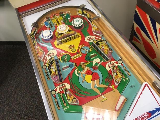 Antique Gottlieb Volley Pinball machine from 1976