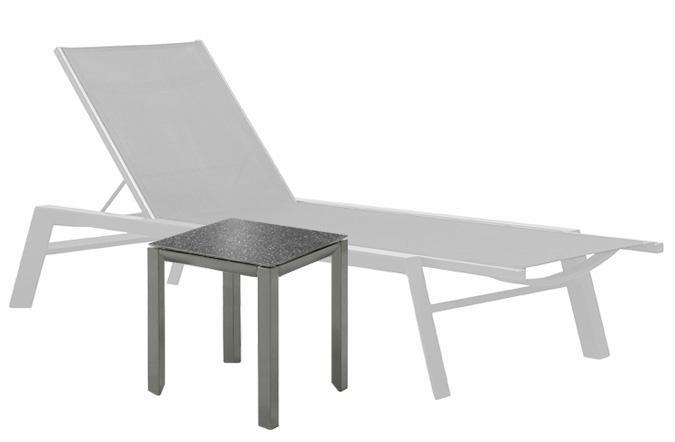Table d'appoint Tama pour chaise longue ou sectionnel extérieure