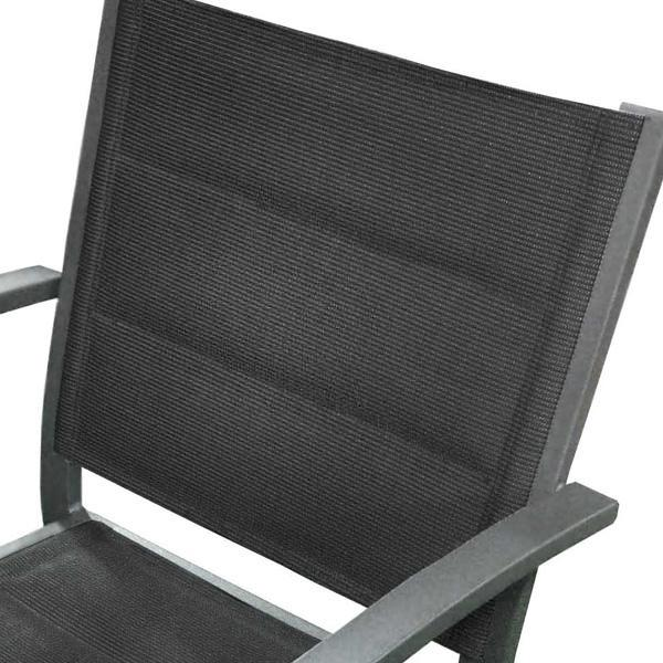 Chaise extérieure Roma en aluminium gris foncé