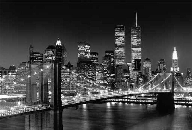 Brooklyn Bridge picture frame canvas 45 x 69 inches