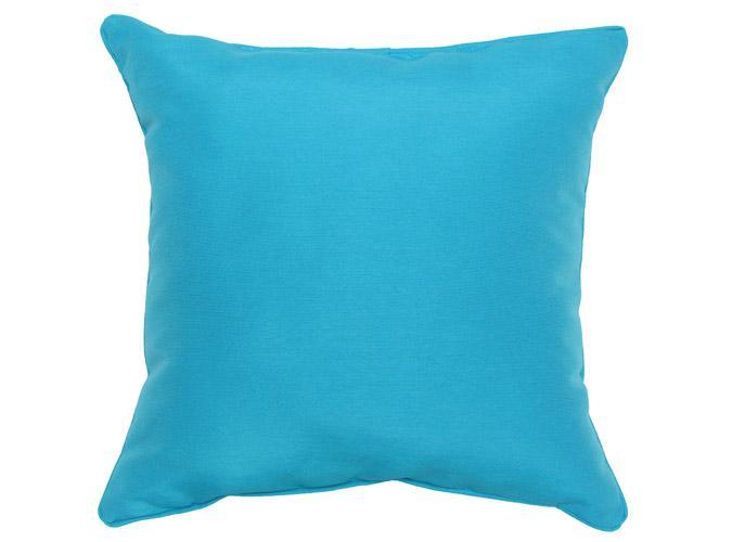 Coussin d'accent extérieur carré 18x18po Bleu Aqua