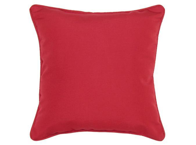 Coussin d'accent extérieur carré 18x18po rouge