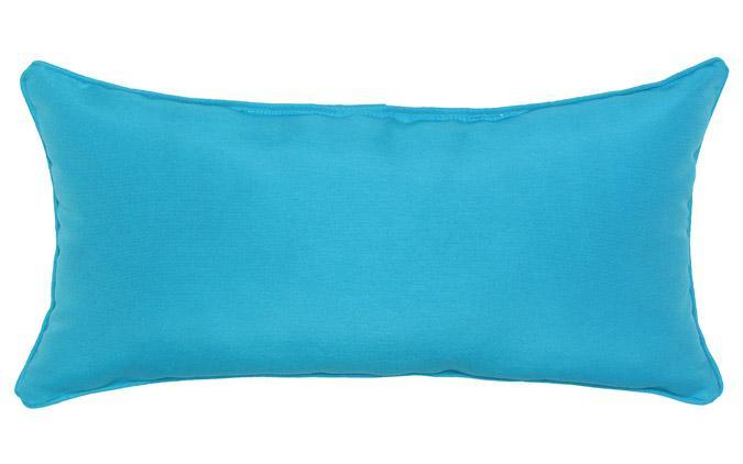Coussin d'accent extérieur carré 12x24po Bleu Aqua