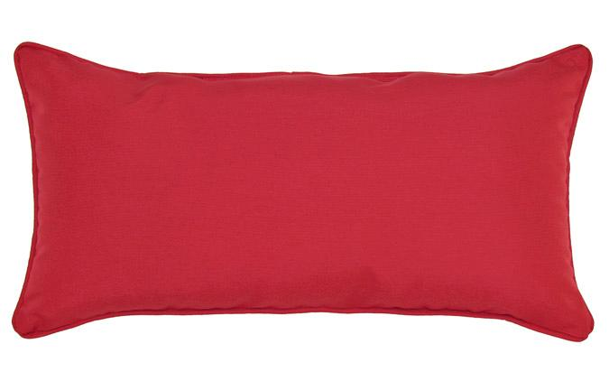 Outdoor Red 12x24in square accent throw pillow