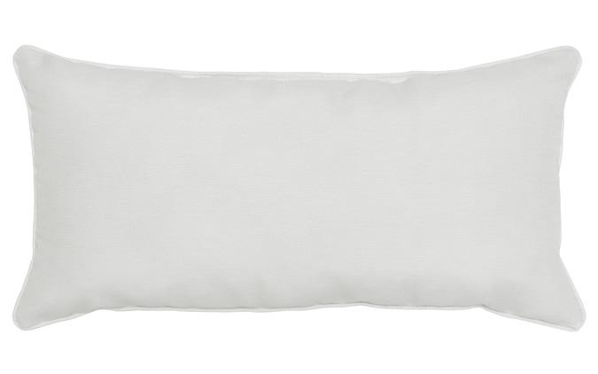 Outdoor White 18x18in square accent throw pillow