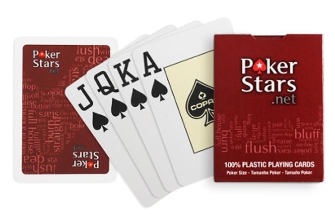 Cartes de poker en plastique PokerStars jumbo à surface rouges