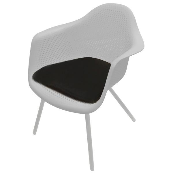 Black Outdoor Chair Seat Cushion For Bistro Dining Chair